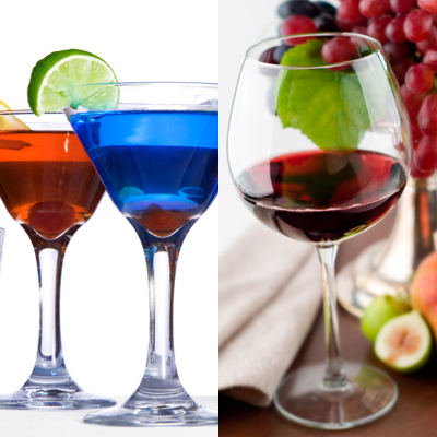 фото коктейлей и красного вина